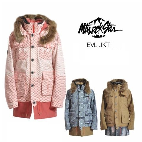 MTN ROCK STAR (マウンテン ロックスター) ウエア EVL JACKET (イボル ジャケット) プリントカラー全3色