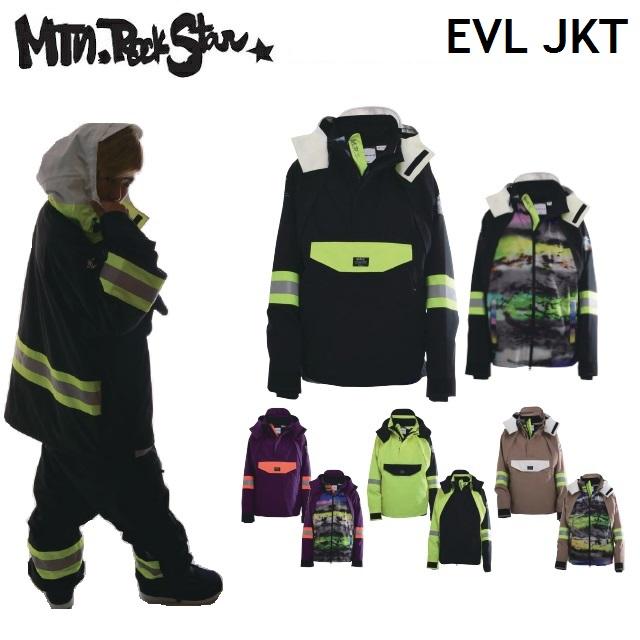 19-20 MOUNTAIN ROCK STAR マウンテンロックスター EVL JACKET イボル ジャケット ウエア メンズ レディース スノーボード