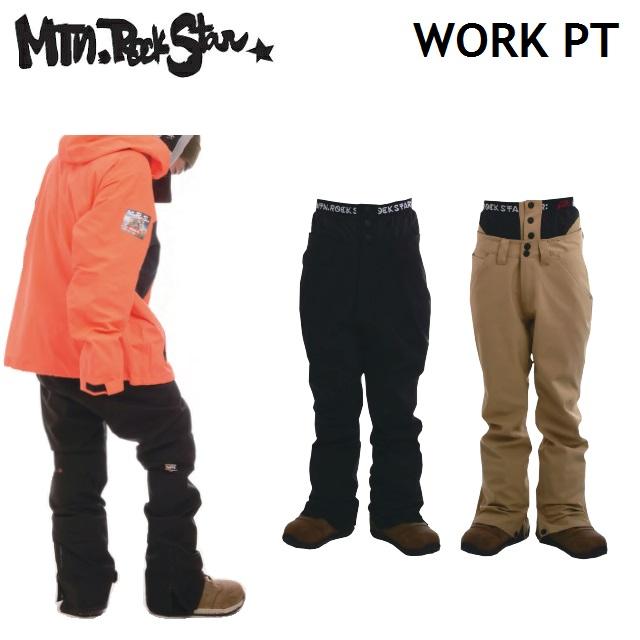 19-20 MOUNTAIN ROCK STAR マウンテンロックスター WORK PANTS ワークパンツ ウエア メンズ レディース スノーボード