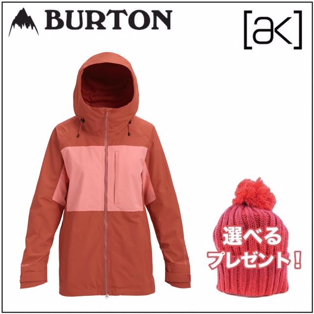 18-19 BURTON バートン ウエア AK GORE-TEX 2L BLADE JACKET ブレード ジャケット HOT SAUCE/DAYDREAM レディース