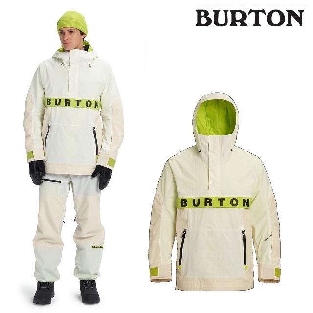 19-20 BURTON FROSTNER ANORAK JACKET バートン ジャケット STOUT WHITE / ALMOND MILK RIPSTOP / TENDER SHOOTS ウエア メンズ スノーボード 日本正規品