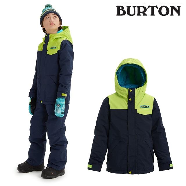 19-20 BURTON KIDS DUGOUT JACKET バートン ドッグアウト ジャケット DRESS BLUE / TENDER SHOOTS ウエア キッズ スノーボード 日本正規品