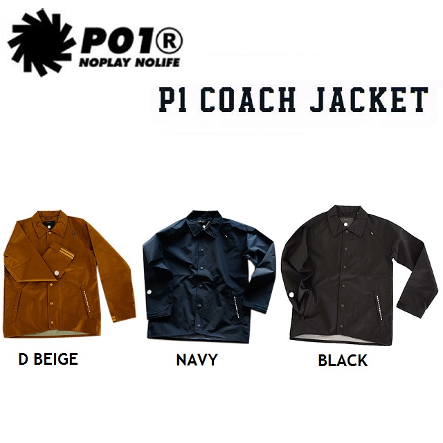 P01 (プレイ) ウエア P1 COACH JACKET(ピーワン コーチ ジャケット)