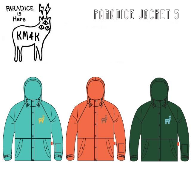 19-20 KM4K カモシカ PARADICE JACKET 5 パラダイス ジャケット WEAR ウエア メンズ レディース スノーボード
