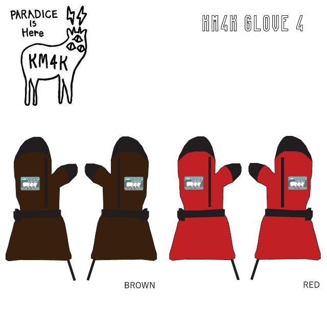 19-20 KM4K カモシカ KM4K GLOVE 4 グローブ メンズ レディース スノーボード
