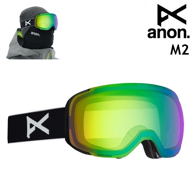 19-20 ANON M2 MFI-BLACK / SONAR GREEN アノン ゴーグル スノーボード アジアンフィット 日本正規品