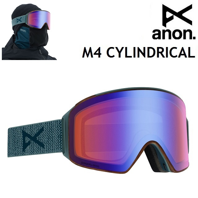 19-20 ANON M4 CYLINDRICAL-LAY BACK / SONAR BLUE アノン ゴーグル スノーボード アジアンフィット 日本正規品