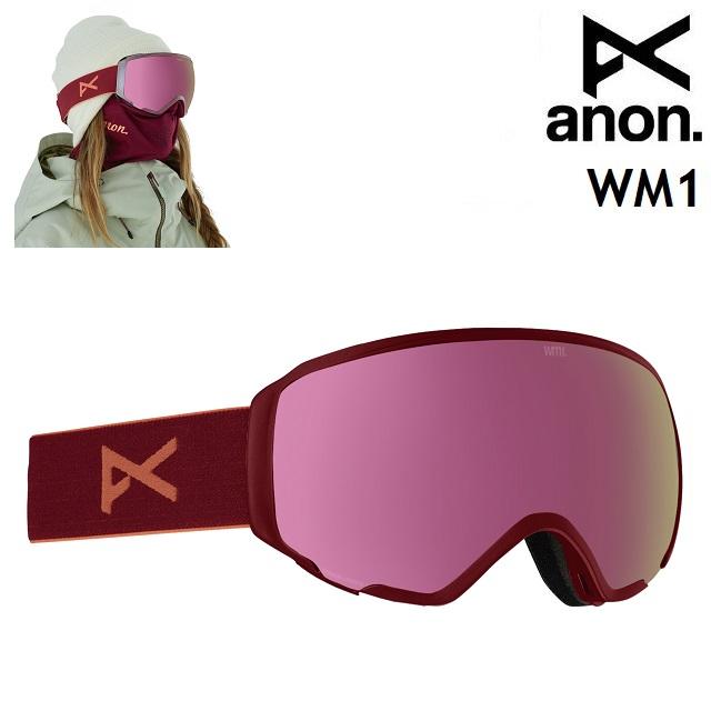 19-20 ANON WM1 MFI-RUBY / SONAR PINK アノン ゴーグル スノーボード レディース アジアンフィット 日本正規品