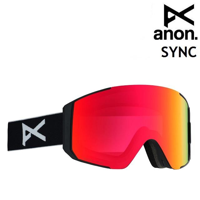 19-20 ANON SYNC-BLACK / SONAR RED アノン ゴーグル スノーボード アジアンフィット 日本正規品