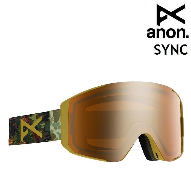 19-20 ANON SYNC-CAMO / SONAR BRONZE アノン ゴーグル スノーボード アジアンフィット 日本正規品