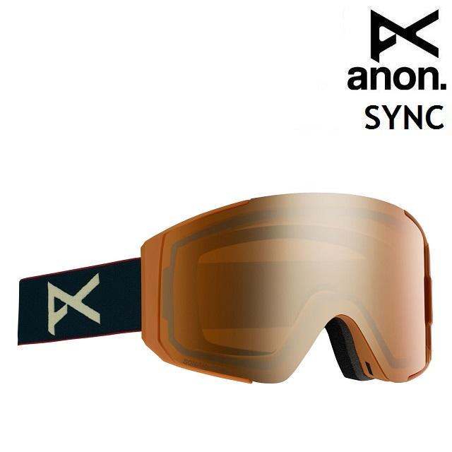 19-20 ANON SYNC-ROYAL / SONAR BRONZE アノン ゴーグル スノーボード アジアンフィット 日本正規品