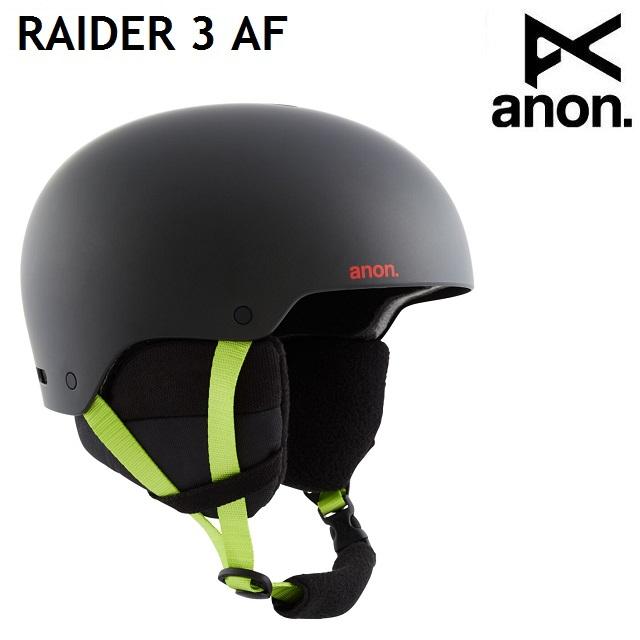 2020-2021 BURTON バートン 20-21 ANON 1着でも送料無料 RAIDER 3 ASIAN 蔵 ヘルメット メンズ FIT POP スノーボード アノン BLACK 日本正規品