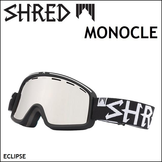 18-19 SHRED シュレッド ゴーグル MONOCLE モノクル ECLIPSE / CARAMEL PLATINUM