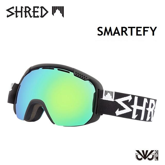 18-19 SHRED シュレッド ゴーグル SMARTEFY スマーティファイ BLACKOUT / CBL GREEN PLASMA 日本正規品