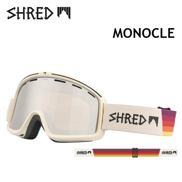 18-19 SHRED シュレッド ゴーグル MONOCLE モノクル VHS / CARAMEL PLATINUM 日本正規品