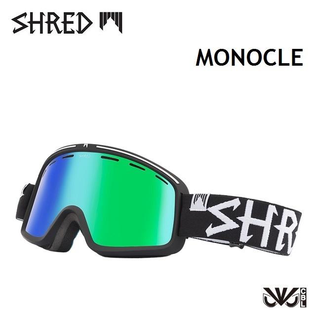 [最大3000円クーポン配布中] 18-19 SHRED シュレッド ゴーグル MONOCLE モノクル ECLIPSE / CBL GREEN PLASMA
