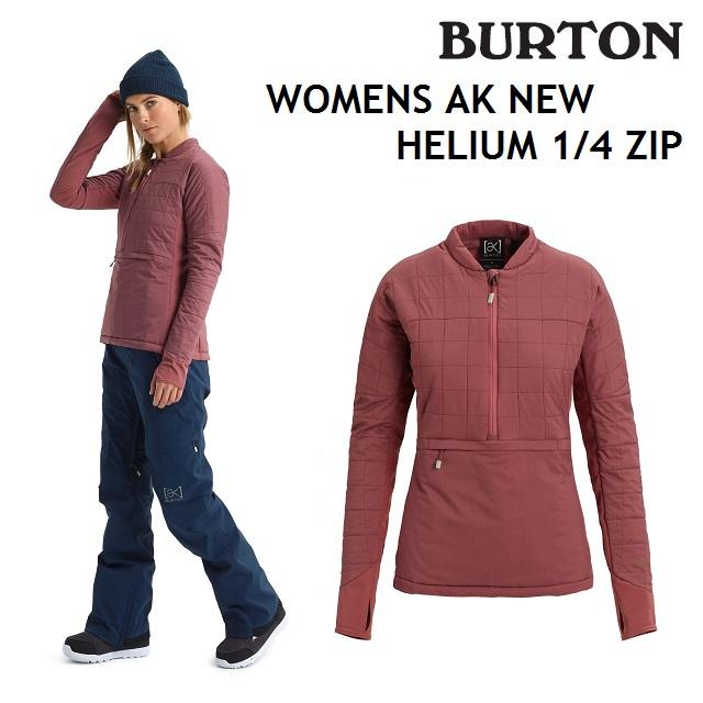 19-20 BURTON WOMENS AK NEW HELIUM 1/4 ZIP バートン レディース インナー スノーボード 日本正規品