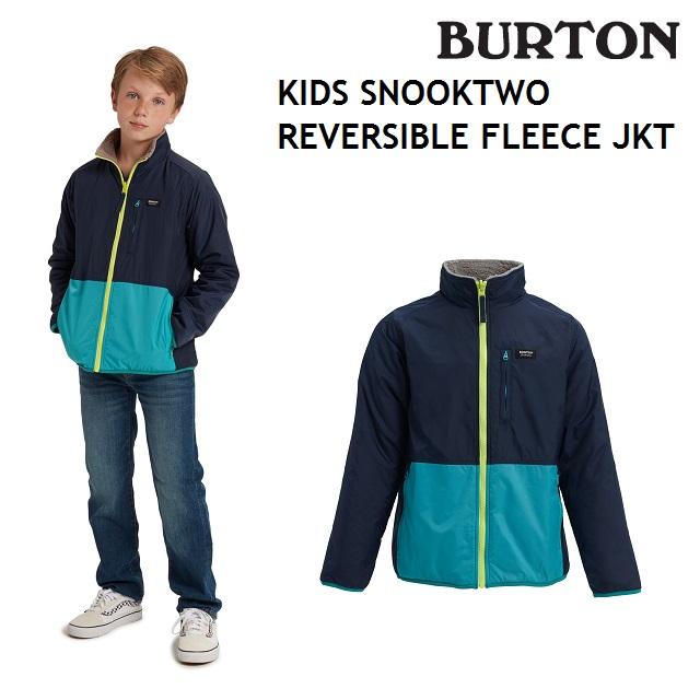 19-20 BURTON KIDS SNOOKTWO REVERSIBLE FLEECE JACKET バートン リバーシブル フリース ジャケット キッズ インナー DRESS BLUE / STERLING スノーボード 日本正規品
