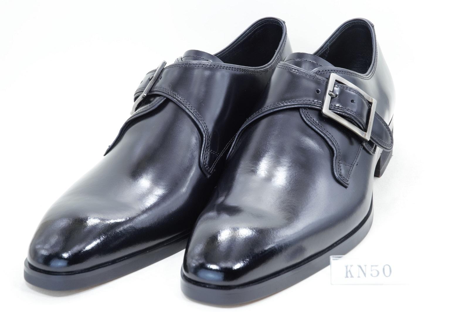 【特価22%OFF】ケンフォード(リーガル社製)    KN50 AF モクストラップ  黒 (3E)
