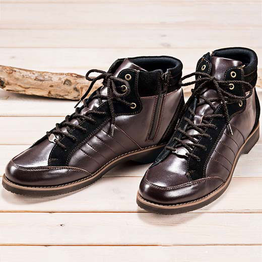 ブーツ 24.0cm 24.5cm 25.0cm 25.5cm 26.0cm 26.5cm 27.0cm <大和の匠>こだわり職人のレザーブーツ(24.0cm~27.0cm) ベルーナ 40代 50代 60代 メンズ 紳士 メンズ ファッション 秋 秋冬服 Belluna ブーツ 靴