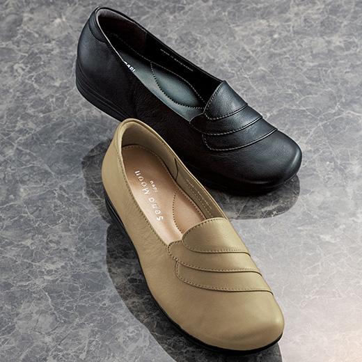2021春新着 ベルーナ パンプス 22.0cm 22.5cm 23.0cm 23.5cm 24.0cm 24.5cm 5E牛革切替デザインパンプス 10%OFF 22.0cm~24.5cm 40代 ミセス 靴 2020新作 ファッション Belluna ヒール 通勤 大人 50代 レディースファッション 60代 春