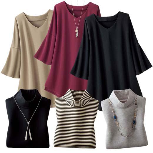【6点セット】コーデ済み魔法のアンサンブル6点セット(3L~5L) ベルーナ ルフラン 40代 50代 60代 レディース 女性 ミセス ファッション 大きいサイズ
