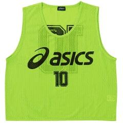 【アシックス】 サッカー用 ビブス(10枚セット) [カラー:フラッシュグリーン] [サイズ:フリー] #XSG060 【スポーツ・アウトドア:その他雑貨】【ASICS】