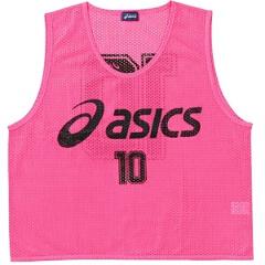 【アシックス】 サッカー用 ビブス(10枚セット) [カラー:フラッシュピンク] [サイズ:フリー] #XSG060 【スポーツ・アウトドア:その他雑貨】【ASICS】