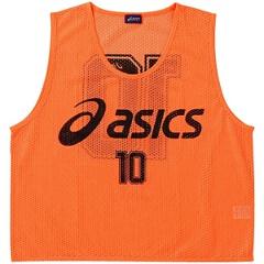 【アシックス】 サッカー用 ビブス(10枚セット) [カラー:フラッシュオレンジ] [サイズ:フリー] #XSG060 【スポーツ・アウトドア:その他雑貨】【ASICS】