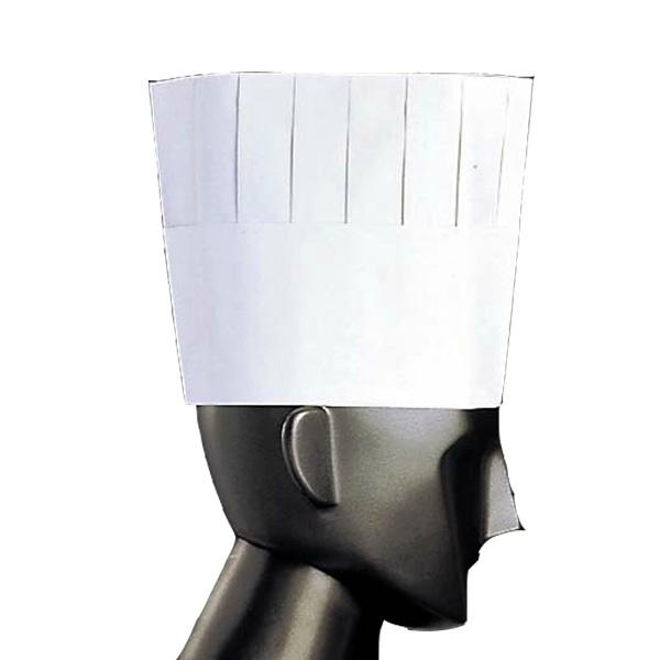 【江部松商事】 プリーツトック シェフハット(50枚入) A82110 H195 【キッチン用品:業務用器具:長靴・白衣】【EBEMATU SYOUJI】