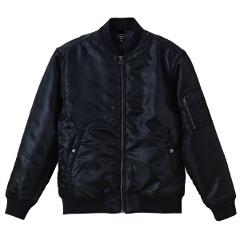 【ユナイテッドアスレ】 タイプ MA-1ジャケット(中綿入り) [カラー:ブラック] [サイズ:M] #7480-01-2 【スポーツ・アウトドア:スポーツウェア・アクセサリー:ジャージ:メンズジャージ:アウター】【UNITED ATHLE】