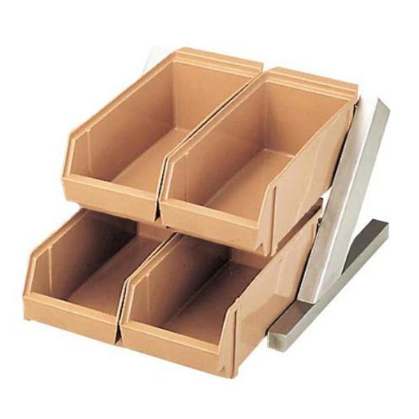 【江部松商事】 EBM オーガナイザ― 2段2列(4ヶ入) C/B 【キッチン用品:容器・ストッカー・調味料入れ:保存容器(材質別):プラスチック】【EBM オーガナイザー】【EBEMATU SYOUJI】