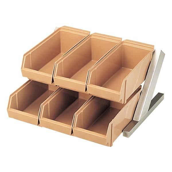 【江部松商事】 EBM オーガナイザ― 2段3列(6ヶ入) C/B 【キッチン用品:容器・ストッカー・調味料入れ:保存容器(材質別):プラスチック】【EBM オーガナイザー】【EBEMATU SYOUJI】
