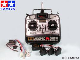 【タミヤ】 タミヤRCシステム アドスペック R601 FM プロポセット 【玩具:ラジコン:プロポ・サーボ・受信機】【タミヤRCシステム】【TAMIYA】