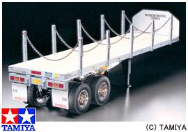 【タミヤ】 1/14 RCビッグトラックシリーズ No.06 フラットベットセミトレーラ― 【玩具:ラジコン:オンロードカー:組み立てキット】【1/14 RCビッグトラックシリーズ】【TAMIYA】