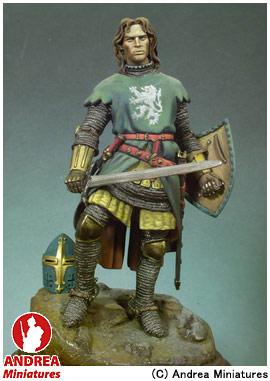 【アンドレア・ミニチュアズ】 クラシックス 90mm 組立キット S8-F26 中世の騎士 1320年 【玩具:模型:人物】【クラシックス 90mm 組立キット】【ANDREA MINIATURES】