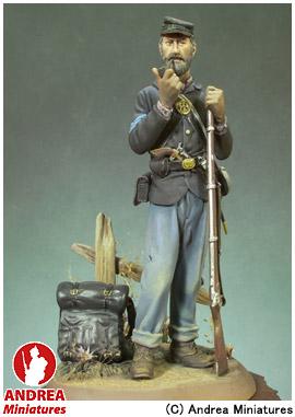 【アンドレア・ミニチュアズ】 クラシックス 90mm 組立キット S8-F28 アメリカ南北戦争 軍曹(1863年) 【玩具:模型:人物】【クラシックス 90mm 組立キット】【ANDREA MINIATURES】