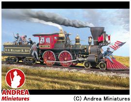 【アンドレア・ミニチュアズ】 ジェネラル 54mm セット SG-S10 列車強盗(アメリカ横断鉄道) 【玩具:模型:ジオラマ・小物】【ジェネラル 54mm セット】【ANDREA MINIATURES】