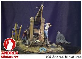 【アンドレア・ミニチュアズ】 中世の騎士 54mm セット SM-S03 Trebuchet(中世の投石器) 1460年 【玩具:模型:人物】【中世の騎士 54mm セット】【ANDREA MINIATURES】