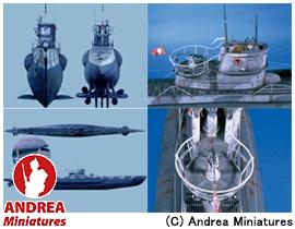 【アンドレア・ミニチュアズ】 1/32 ドイツ・Uボート VII C LP-02 U-BOAT VII C (Complete Hull) 【玩具:模型:船舶】【1/32 ドイツ・Uボート VII C】【ANDREA MINIATURES】