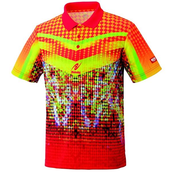 ミラルーシャツ 卓球ウェア [カラー:レッド] [サイズ:S] #NW-2163-20