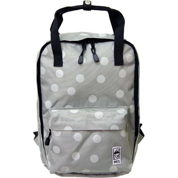 ポルカドットボックスパック [カラー:ライトグレー] [容量:13L] #MEI153001-LGRY