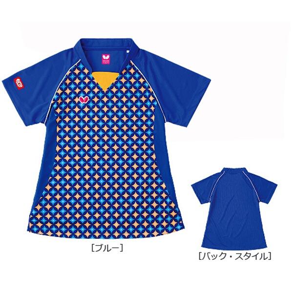ジェムステーン・シャツ(レディース) 卓球ウェア [カラー:ブルー] [サイズ:M] #45019-177