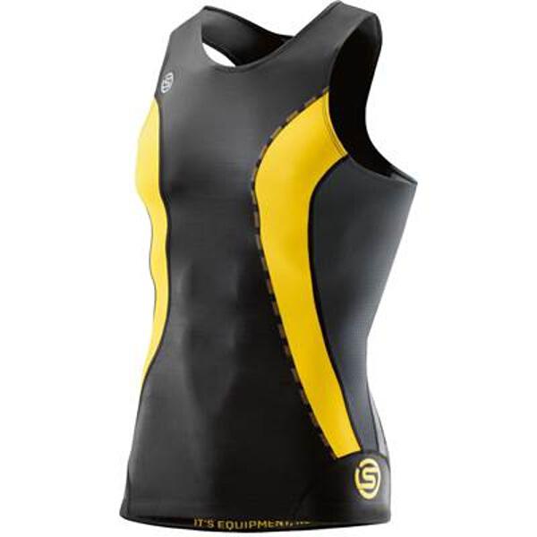 【スキンズ】 DNAmic メンズ スリーブレストップ 日本正規品 [カラー:ブラック×シトロン] [サイズ:XL] #DK9905003-BKCR 【スポーツ・アウトドア:スポーツ・アウトドア雑貨】【SKINS】