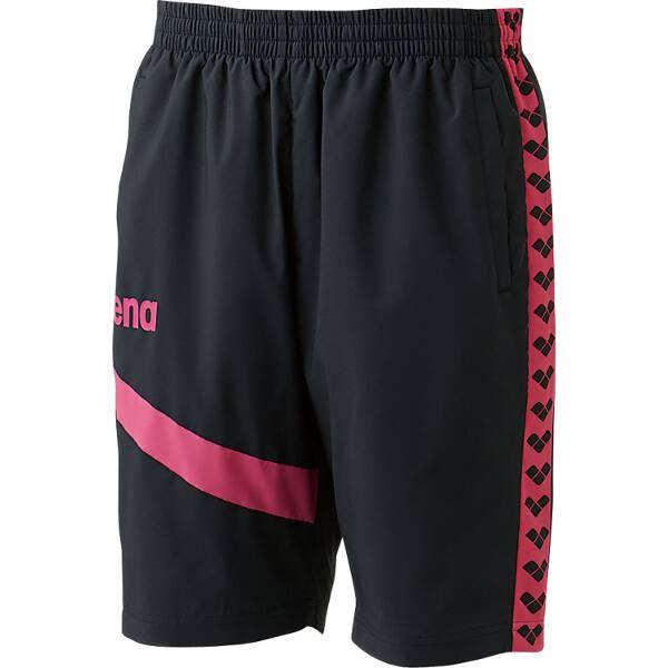 【アリーナ】 ウィンドハーフパンツ [サイズ:S] [カラー:ブラック×ピンク] #ARN-6302P-BKPK 【スポーツ・アウトドア:その他雑貨】【ARENA】