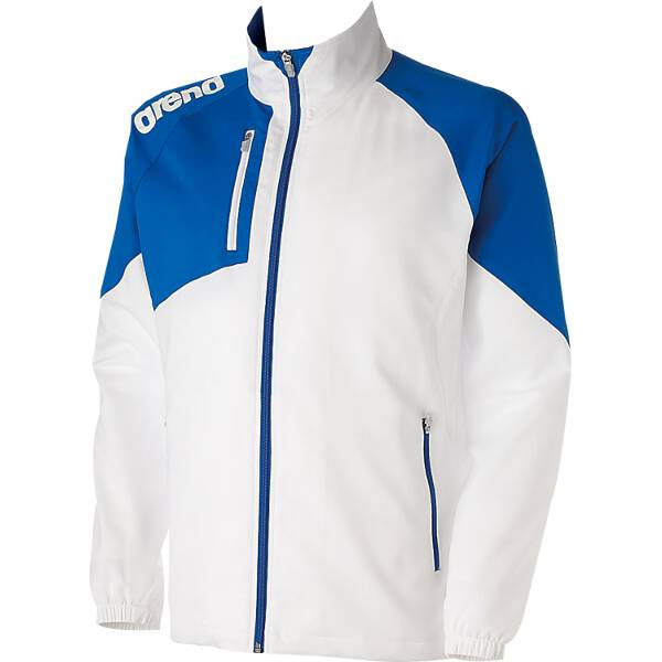 【アリーナ】 クロスジャケット [サイズ:M] [カラー:ホワイト×ブルー] #ARN-4300-WTBU 【スポーツ・アウトドア:スポーツ・アウトドア雑貨】【ARENA】