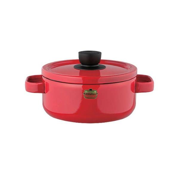 ソリッド ホーローキャセロール 20cm SD-20W・R レッド :ビューティーファクトリー