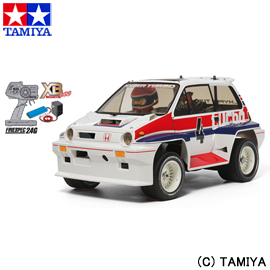 【タミヤ】 1/10 XB (エキスパート ビルト) No.194 Honda シティターボ (WR-02Cシャーシ) 【玩具:ラジコン:オフロードカー:完成品】【1/10 XB (エキスパート ビルト)】【TAMIYA 1/10RC XB Honda CITY TURBO (WR-02C CHASSIS)】