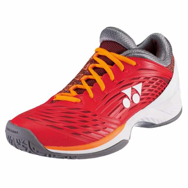 【ヨネックス】 テニスシューズ パワークッション フュージョンレブ2 MAC [カラー:フレイムレッド] [サイズ:25.0cm] #SHTF2MAC-596 【スポーツ・アウトドア:テニス:競技用シューズ:メンズ競技用シューズ】【YONEX】