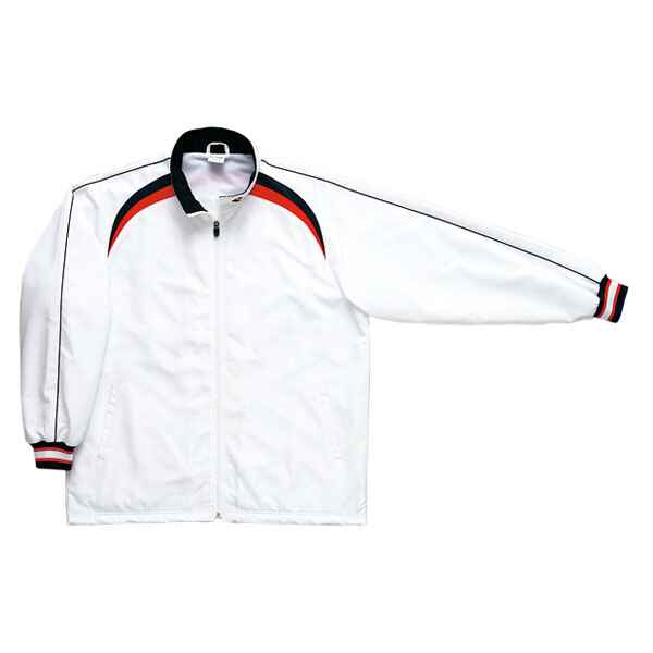 【コンバース】 ウォームアップジャケット CB162506S [カラー:ホワイト×ネイビー] [サイズ:O] #CB162506S-1129 【スポーツ・アウトドア:その他雑貨】【CONVERSE】